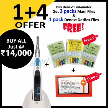 Buy Denext Endomotor Get 3 packs Mani Files & 1 pack Denext Dotflex Files FREE