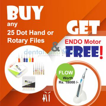 Buy 25 Dot Files(Hand/Rotary) and Get Flow Endo Motor for Free