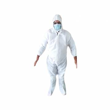 FULL BODY COVERALL GOWN SUITE WITH HOOD AND SHOE COVER  ECO