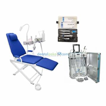CHESA PORTABLE DENTAL CHAIR ( DENTAL LED LIGHT ,STOOL,SUITCASE CONTAINING SUCTION & COMPRESSOR)